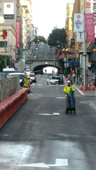 San Francisco, California, perspective, tunnel, hill,