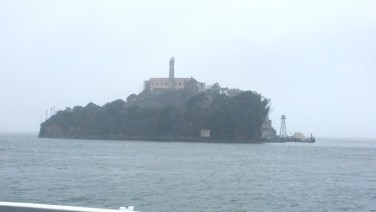 San Francisco, California, Alcatraz, prison, view, ferry, outside,