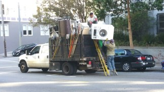 San Francisco, California, washing machine, back, broken, break, work, struggle, mad, madness, stupidity,