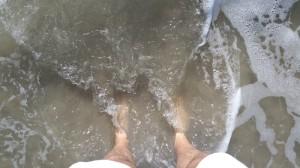 Feet, Sea, Beach, Ocean,
