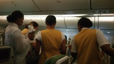 Ethiopian Airlines, Birthday, Champagne,