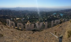 Hollywood sign, back, panorama, los angeles, hollywood, hollywood hills, behind,