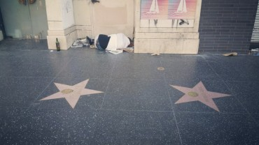 Hollywood, Homeless, Street, Stars, Hollywood Boulevard, sleep, sleeping, poor,