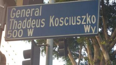 Tadeusz Kosciuszko, street, sign, Thaddeus Kosciuszko, Los Angeles,