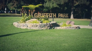 Griffith park, sign, entrance, exit, los angeles,