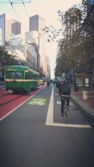 California, San Francisco, downtown, bike, bike lane, ride,