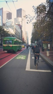 California, San Francisco, downtown, bike, bike lane, ride,
