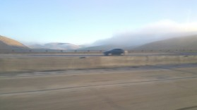 Highway. Freeway, Yosemite, fog, morning