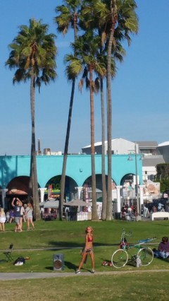 Dance, Venice Beach, Girl, Dance, roller blades, palm trees, sun, los angeles