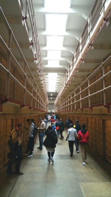 San Francisco, California, Alcatraz, main hall, hall, prison, inside, tourist, tourists,