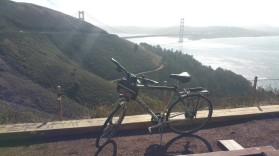 bike, golden gate bridge, California, San Francisco, hills, hill, rental