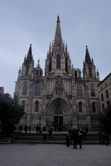 "Barcelona cathedral. The main one. The most famous - Sagrada la Familia is ""only"" a basilica."