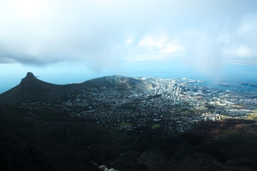 A good view of Cape Town.