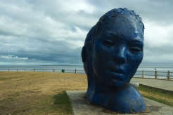 "Sea Point Promenade and ""Morphus"", an amazing sculpture made by a local!"