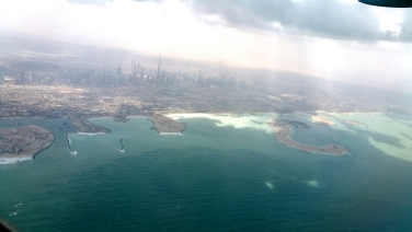 Taking off to Cape Town. Dubai is a picturesque city!