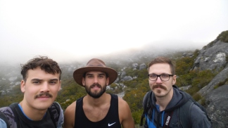 Met these two brothers on the way and we decided to walk down the mountain together. They were locals so I felt a bit more confident. Cool people!