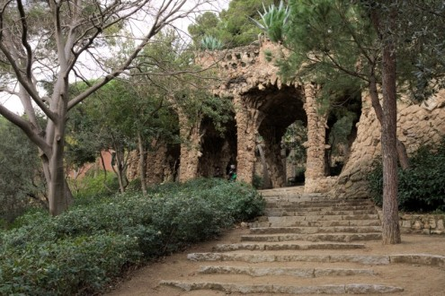Park Guell from the autside. This looks more like World of Warcraft theme than a park to be honest!