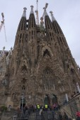 To be honest, I thought this was the fron of the Sagrada basilica. It's actually a side entrance!
