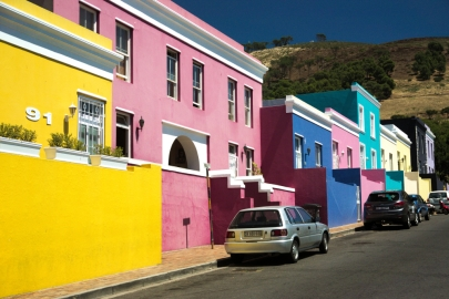 Bo-Kaap, row of houses, Cape Town, South Africa