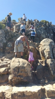 Parents taking children, small kids to Lion's Head, Cape Town, South Africa, reckless, stupid, irresponsible