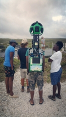 Google is doing a fantastic project of mapping all (or almost all) of African trails. Cape Agulhas being the highlight one! And we happened to be on the way. To be aired in June 2017.
