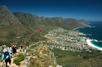 Helicopter for the rescue, lion's head, Cape Town, South Africa