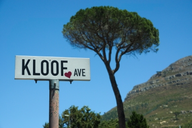 Kloof ave, avenue sign and lone tree,