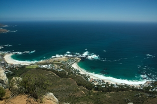 Camps Bay seen from Lion's Head, Cape Town, South Africa