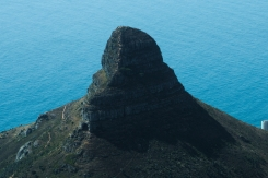 zoom, close up, closer look at Lion's Head from Table Mountain, Cape Town, South Africa