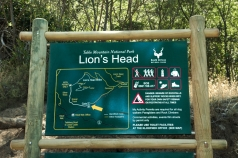 Lion's Head road sign,