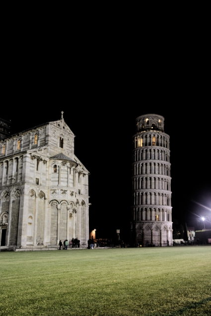 Pisa in the dark