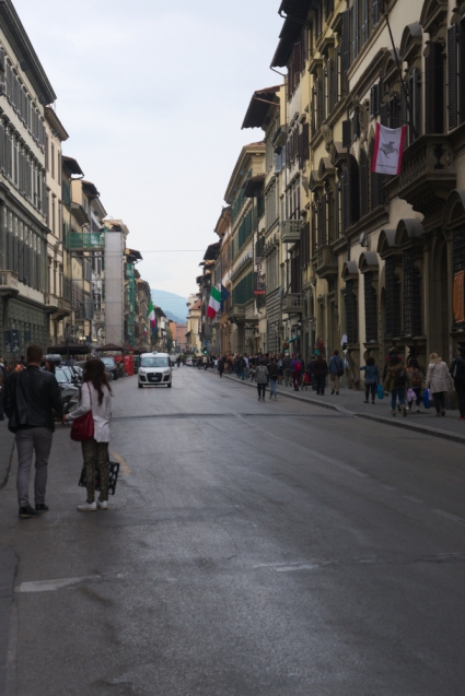 Busy streets of Florence