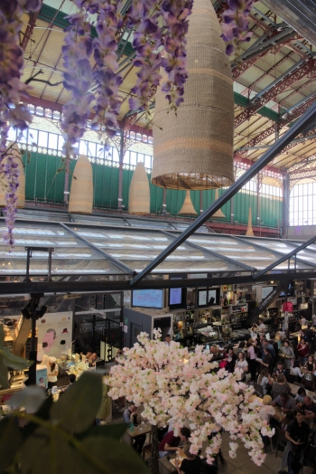 Inside the foodhall from above