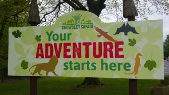 Knowsley Safari Park entrance
