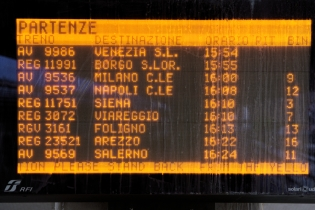 Train departures