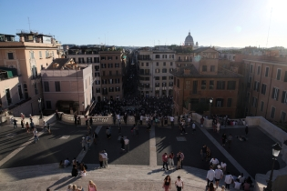 Spanish steps from up above