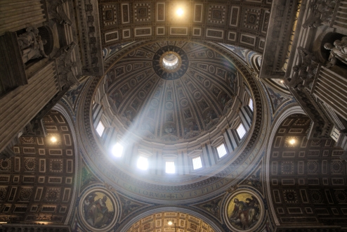 St Peter Basilica inside dome