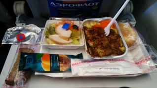 Aeroflot inflight food - tasty