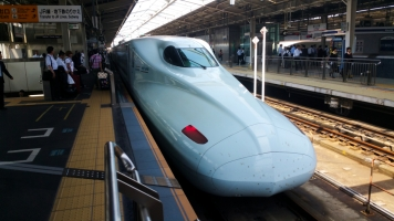 Changing trains in Shin-Osaka