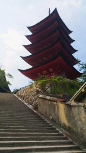 Miyajima temple tower 2