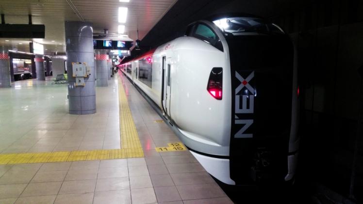 NEX Narita Express train to Tokyo