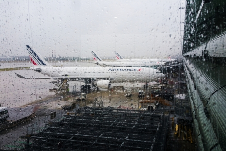 Parked planes CDG
