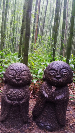 Cute Bamboo Statues