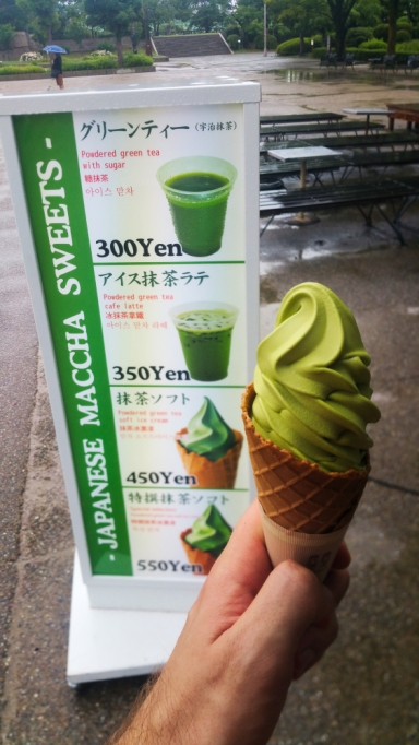 Delicious green tea ice cream