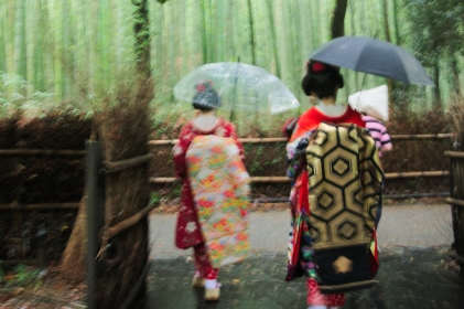 Maiko walking away