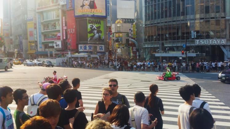 Shibuya Crossing Mario Kart