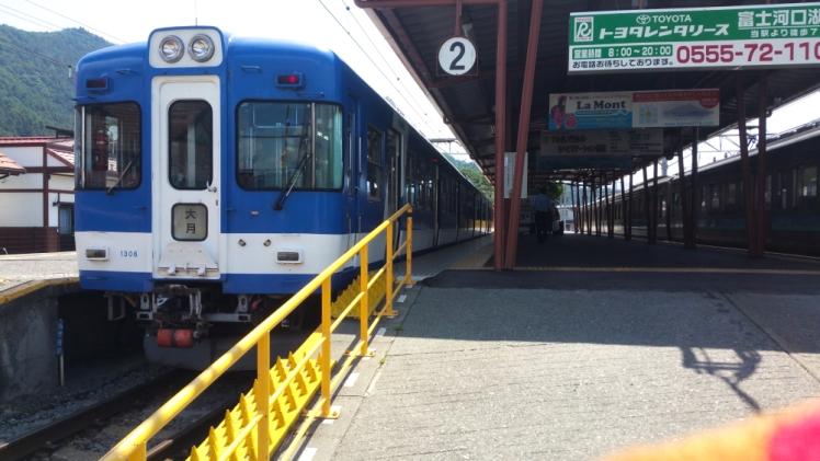 Train towards Tokyo