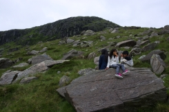 On the way up - Miners Track, kids need a break