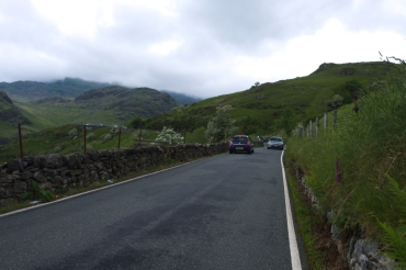 On the way up - Snowdon narrow roads