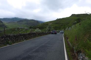 On the way up - Snowdon narrow roads